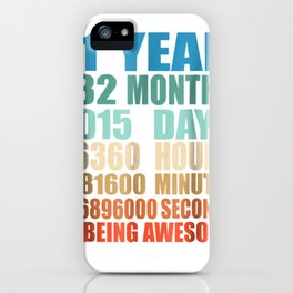 11 years old 11th birthday vintage retro tee 132 months iPhone Case