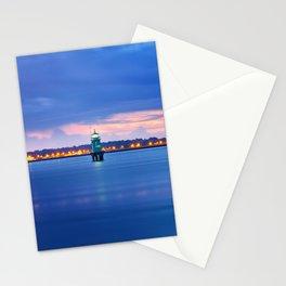 Blue hour. Dublin port Stationery Cards