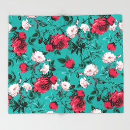 RPE FLORAL VII Throw Blanket