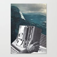 radio Canvas Prints featuring radio by Hugo Barros