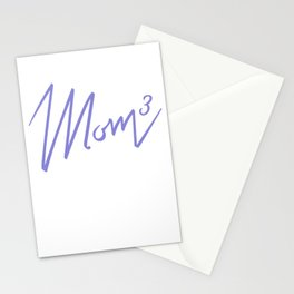 Mom of 3 Stationery Cards