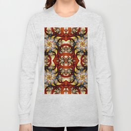 Fractal Art - Spiral in red and gold Long Sleeve T-shirt