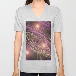 A Woven Basket Case v.3  On A Galactic Scale Unisex V-Neck