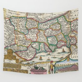 Vintage Map of Switzerland (1747)  Wall Tapestry