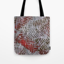 Abstract Red Gray Painting Tote Bag