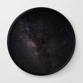 Milky Way Galaxy Wall Art | Stars Universe Space Cosmos Nebula Night Sky Photography Print Wall Clock