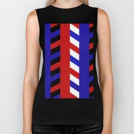 Striped Red Blue Pattern Biker Tank