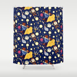 Be Our Guest Pattern Shower Curtain