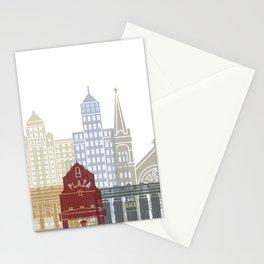 El Paso skyline poster Stationery Cards