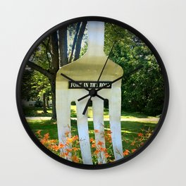 Fork in the Road Wall Clock
