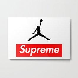 Supreme Jordan Metal Print