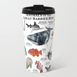 Animals of the Great Barrier Reef Travel Mug