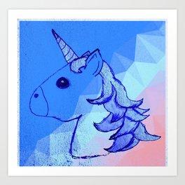 Blurple The Unicorn (A Portrait) Art Print