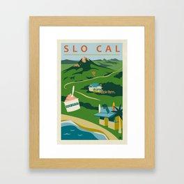 Retro San Luis Obispo Poster Framed Art Print