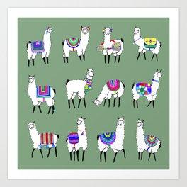 Llama Love Art Print