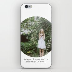 Heaven knows we're miserable now. iPhone & iPod Skin