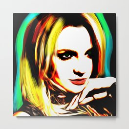 Britney Spears - Superstar - Pop Art Metal Print