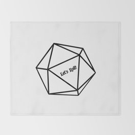 Let's Roll! D20 Throw Blanket