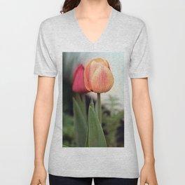 Colorful Tulips 3 Unisex V-Neck