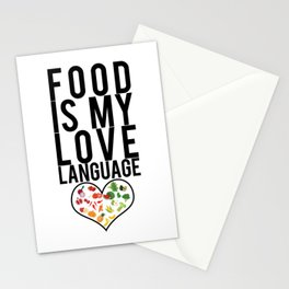 Food Is My Love Language Foodie Gift Stationery Cards