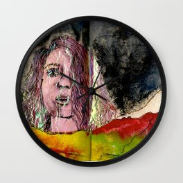 The girl of the mountain Wall Clock