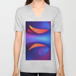 Reflective Moon Unisex V-Neck