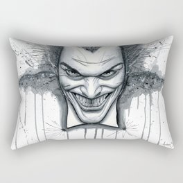 Crazy - Ode to The Joker Rectangular Pillow