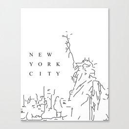 White Minimal New York City Poster Canvas Print