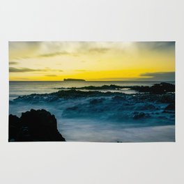 The Infinite Spirit Tranquil Island Of Twilight Maui Hawaii Rug