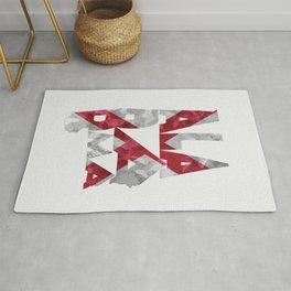 Alabama Typographic Flag Map Rug