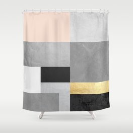 Gold collage IV Shower Curtain
