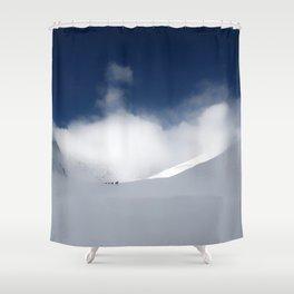 White Mountain Winter Shower Curtain