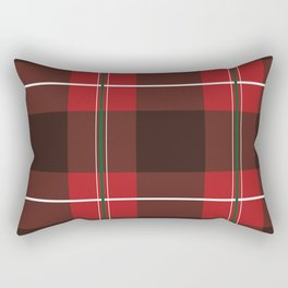 Red, Black and Green Striped Plaid Rectangular Pillow