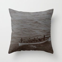 Lost at Sea Throw Pillow