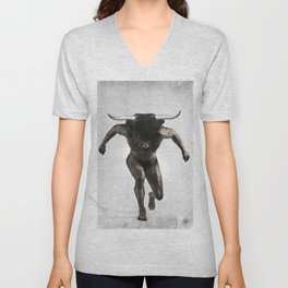 Minotaur {Mythographic series} Unisex V-Neck