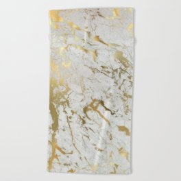 Gold marble Beach Towel
