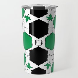Green Black Travel Mug