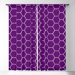Purple honeycomb geometric pattern Blackout Curtain