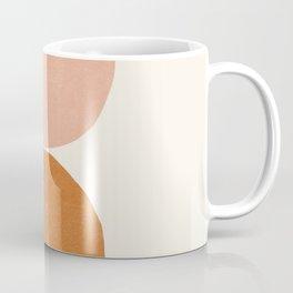 Terracotta Mid Century Modern Abstract Coffee Mug