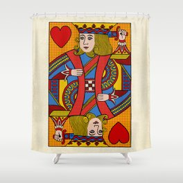 King of Hearts Shower Curtain