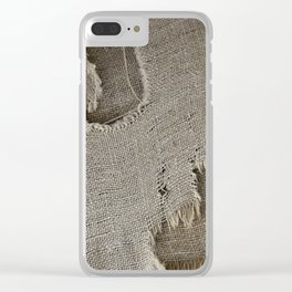 Sackcloth Clear iPhone Case