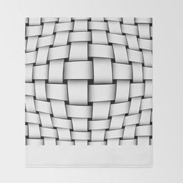intertwined bands Throw Blanket