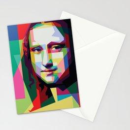 Monalisa Geometric WPAP Art Stationery Cards