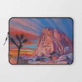 Glowing Joshua Tree sunset as the climbing day draws to a close Laptop Sleeve