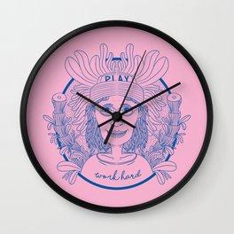 WORK HARD GIRL Wall Clock