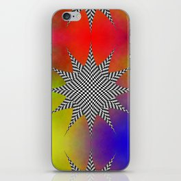 Modern Checkered Plasma iPhone Skin