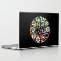 magic the gathering Laptop & iPad Skins featuring Magic the Gathering - Stained Glass by omgitsmagic