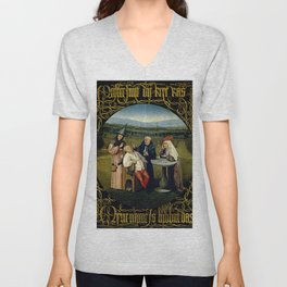 """Hieronymus Bosch """"The Extraction of the Stone of Madness"""" Unisex V-Neck"""