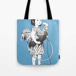 Rooster Girl Tote Bag