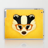Hipster Badger: Gold Laptop & iPad Skin
